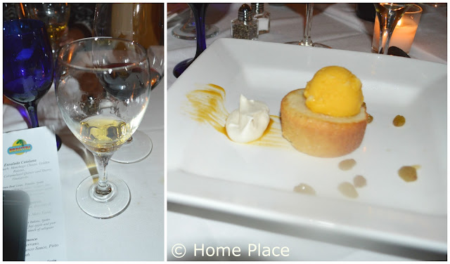 Torta de Aceite (Olive Oil and Rosemary Cake with Grapefruit Sorbet at Brasitas Stamford CT
