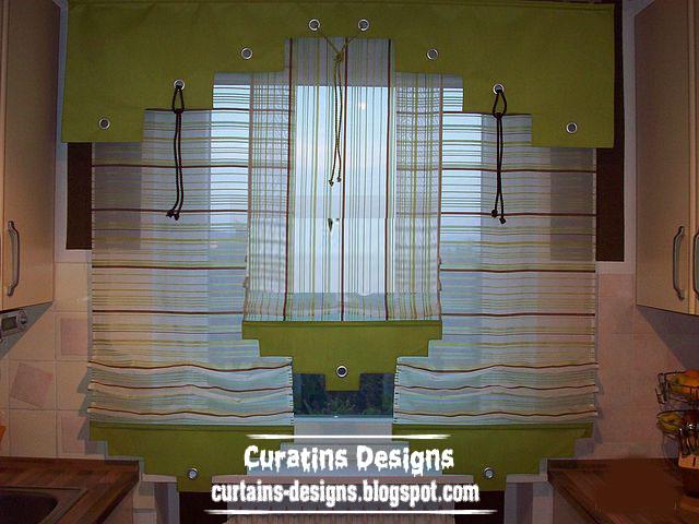 Unique Kitchen Curtain Valance Design For Modern Green