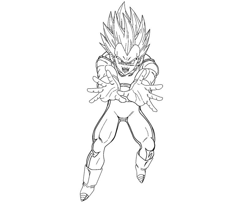 Vegeta 8 coloring crafty teenager for Vegeta coloring page