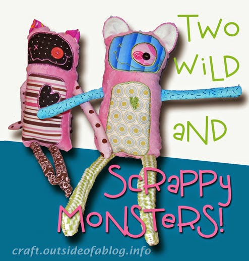 Monster Dolls | Sewn from Scraps | Quick and Easy