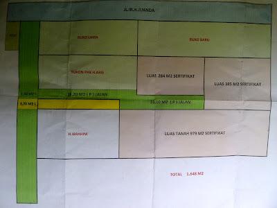 Jual Tanah Jalan IR H Juanda, Ciputat. Luas 1648 m2