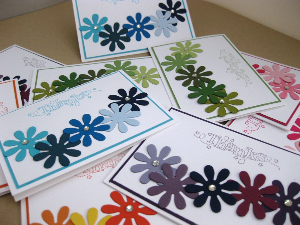 blue jelly sew n so victoria rogers blossom party thank you cards