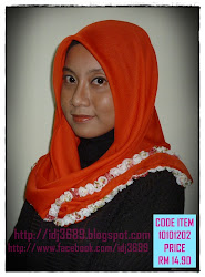 Tudung Bawal with Flower (handmade)