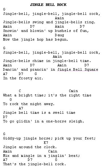 Guitar Tabs Jingle Bell Rock Music Sheets Chords Tablature And