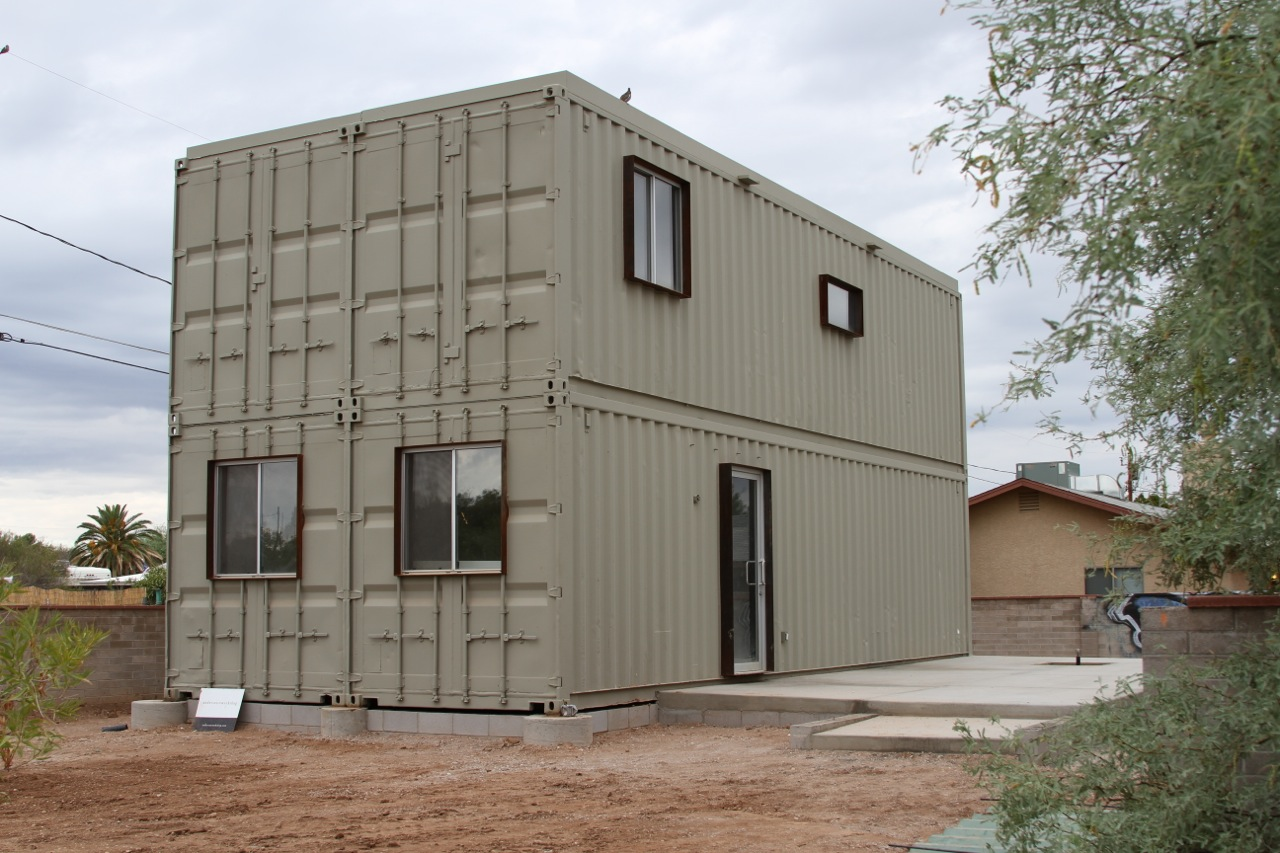Touch the wind tucson steel shipping container house for Small metal homes for sale