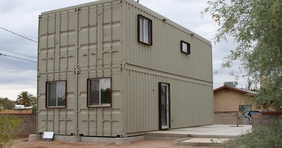 Cargo Box House touch the wind: tucson steel shipping container house