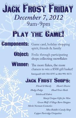 Skippack Event Calender 2012:  Jack Frost Friday