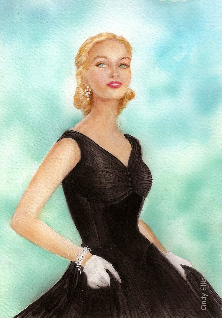 Cindy Ellison Long Cool Woman In A Black Dress