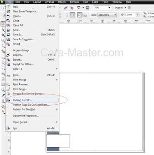 Cara Mengatasi File tidak Bisa di Publish ke PDF pada corel draw