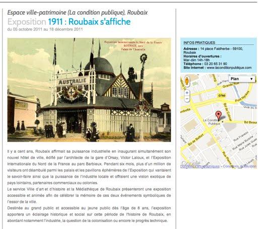 1911 : Roubaix s'affiche