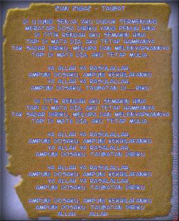Lyric Lagu Religi 2013/1434 (Bergambar) Zian zigas- Taubat