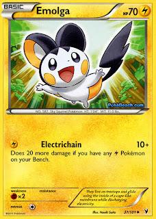 Emolga Pokemon Card Noble Victories Set