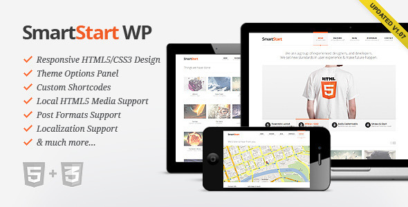 Image for SmartStart WP – Responsive HTML5 Theme by ThemeForest