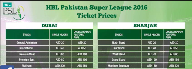 PSL ticket prices details float out