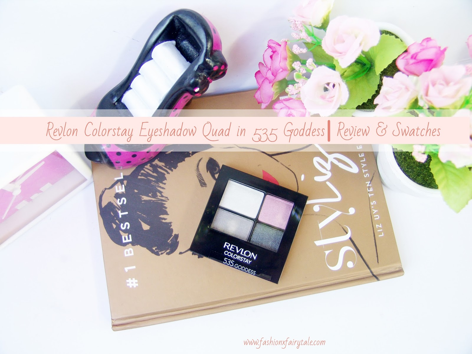 Revlon Colorstay Eyeshadow Quad in 435 Goddess | Review & Swarches