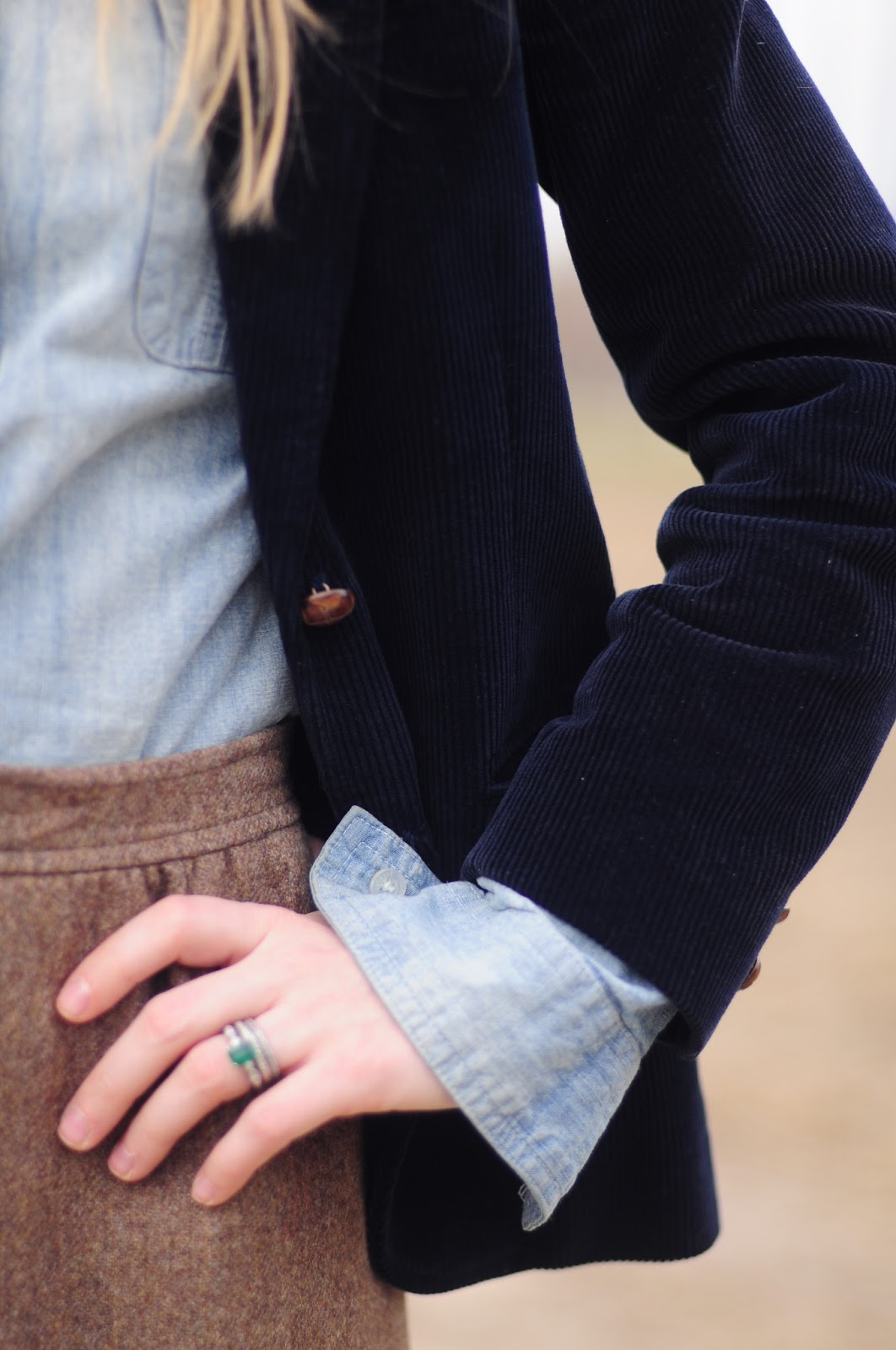 corduroy and denim