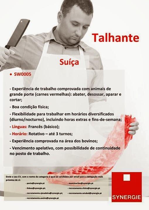 emprego talhante Suíça