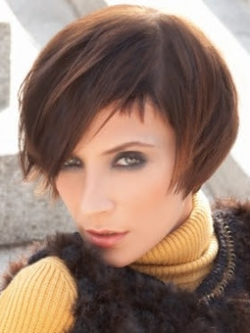 Lovely midi hairstyles with bangs