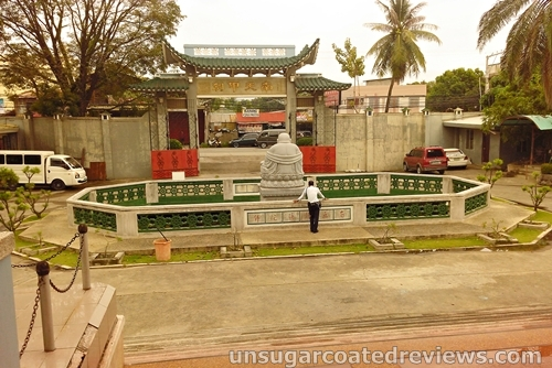 overlooking the grounds of Lon Wa Buddhist Temple in Davao City, Philippines