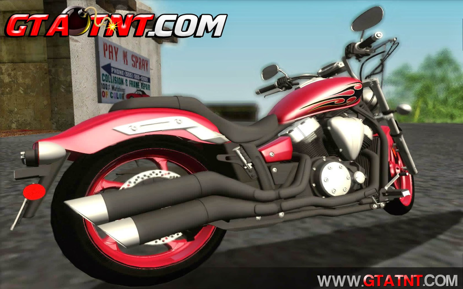 Yamaha Star Stryker 2012 para GTA San Andreas