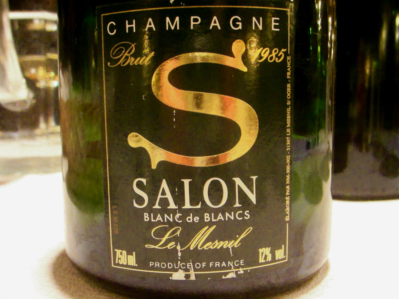 Finare vinare gubbamidda med bubbel for 1985 salon champagne