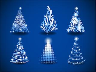 光で表現したクリスマスツリー アイコン gorgeous christmas tree イラスト素材
