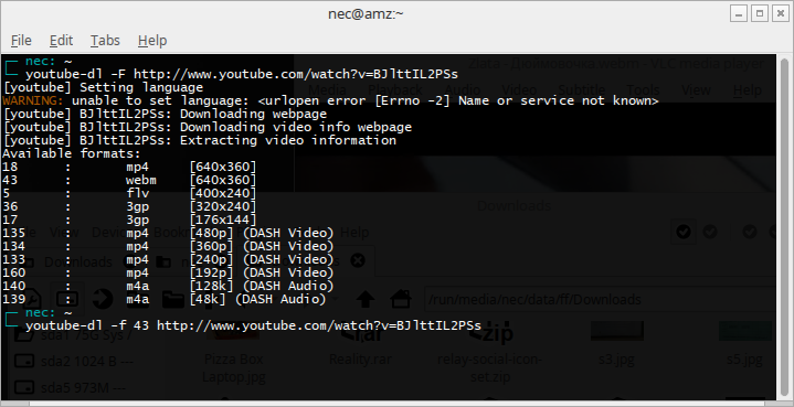 how to download youtube videos in command mode