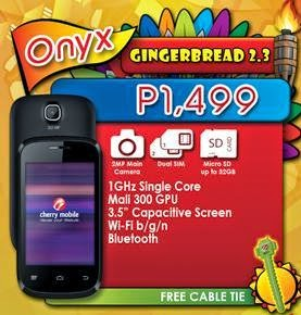 Cherry Mobile Ace and Onyx, Android Smartphones for Php1,499