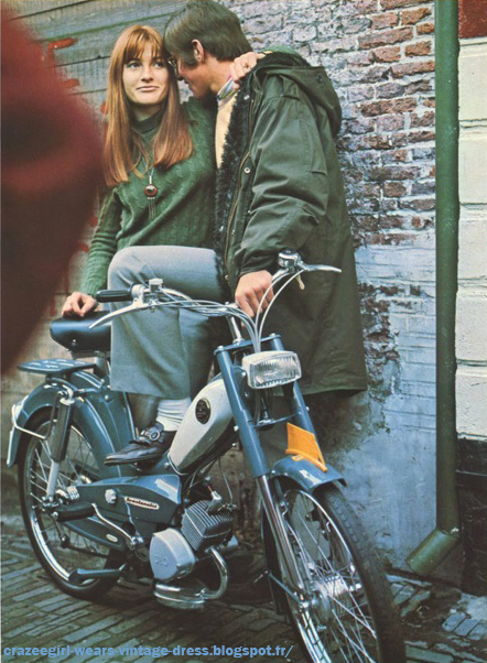 Dutch folder with Sparta mopeds , scanned by Marcel from MotorParade ,  and you 're right Marcel , i like the stuff the girls and lads are wearing...pink floyd sparta spartamatic 1967 1968 vintage 1960 60s 1960's 60's pink mini dress mod mods orange boots