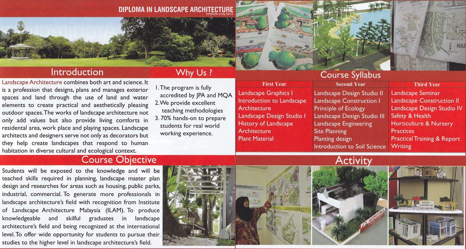 Program Uitm Diploma Senibina Landskap Diploma Landscape Architecture