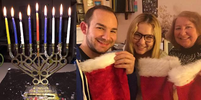 happy holidays, Merry Christmas, Happy Hanukkah, holiday greetings, menorah, Jewish Christmas, #jewishchristmas, stockings