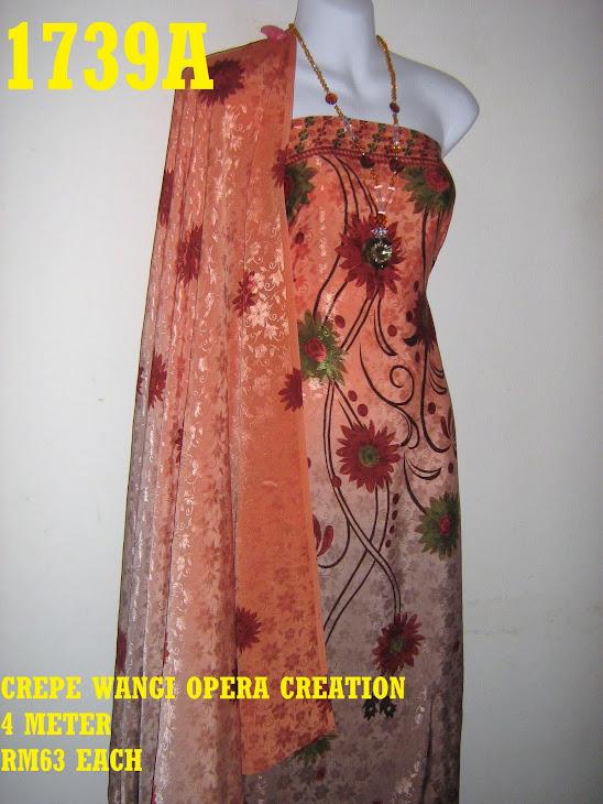 CW 1739A: CREPE WANGI OPERA CREATION, 4 METER