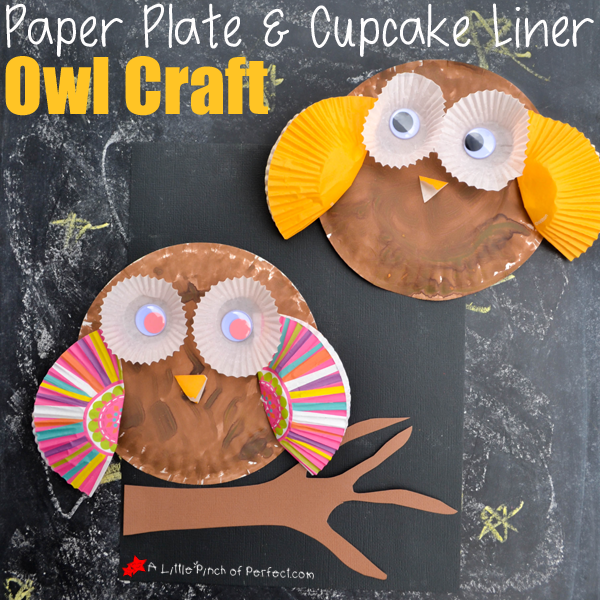Have a great day! & Paper Plate and Cupcake Liner Owl Craft for Kids -