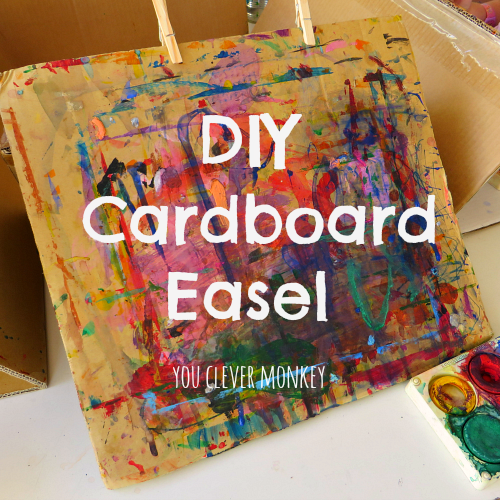 DIY Cardboard Tabletop Easel   youclevermonkey