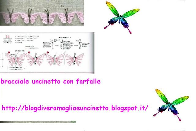Il blog di Vera Maglia&Uncinetto: bracciale uncinetto con farfalle
