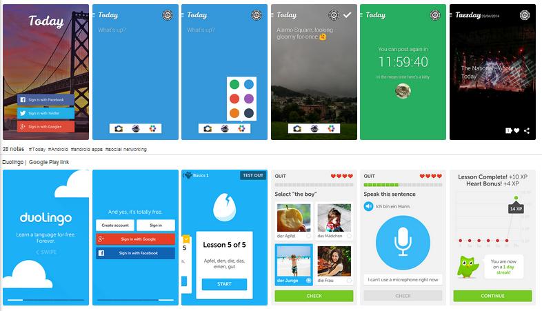 best inspiration site for android application designer