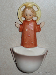 Holy Water Font Child Jesus #26/0 Wall Vase