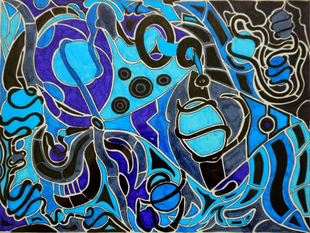 Dessins Fantastiques Bleu+6