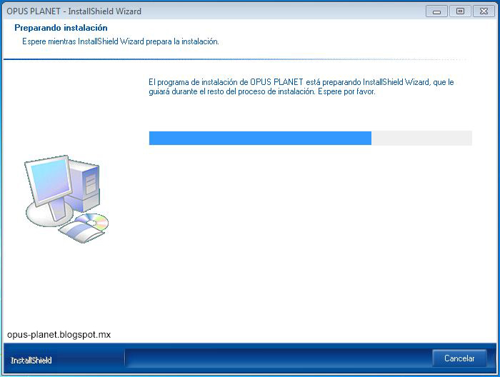 Instalación Opus Planet en Windows 7