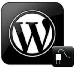 Wordpress Plugins Logo Black