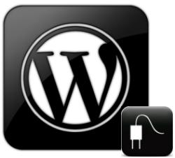 Wordpress Plugins Logo Black