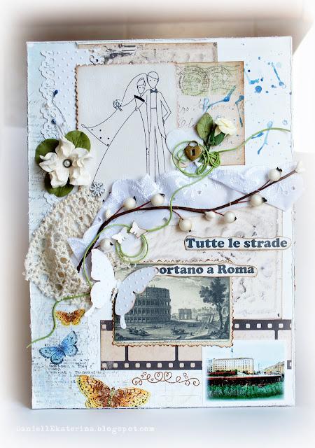открытка свадьба рим