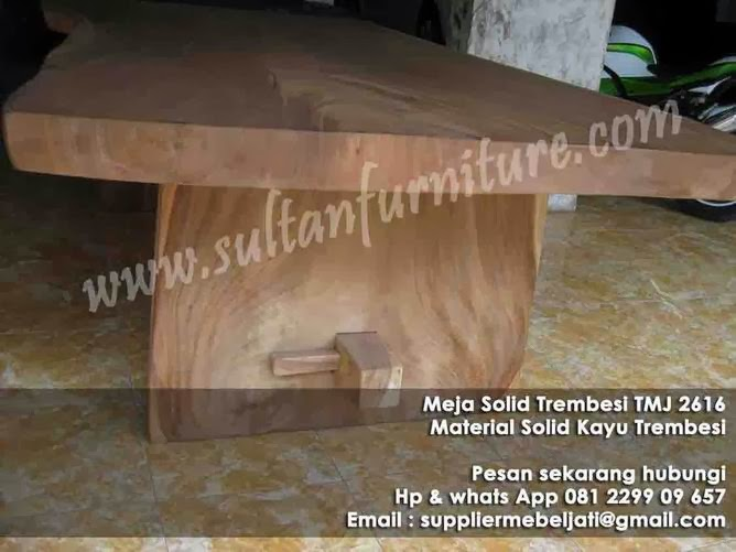 Mebel papan besar meja meeting solid trembesi jepara furniture Indonesia