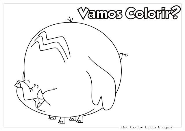 Meu Amigãozão - Golias desenho para colorir