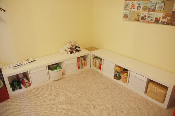 Ikea Playroom Bench : A handmade tale playroom reno