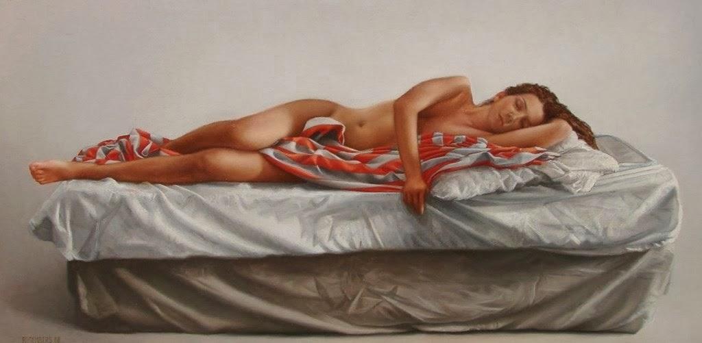 MUJERES DORMIDAS Arte-mujeres-semidesnudas-al-oleo