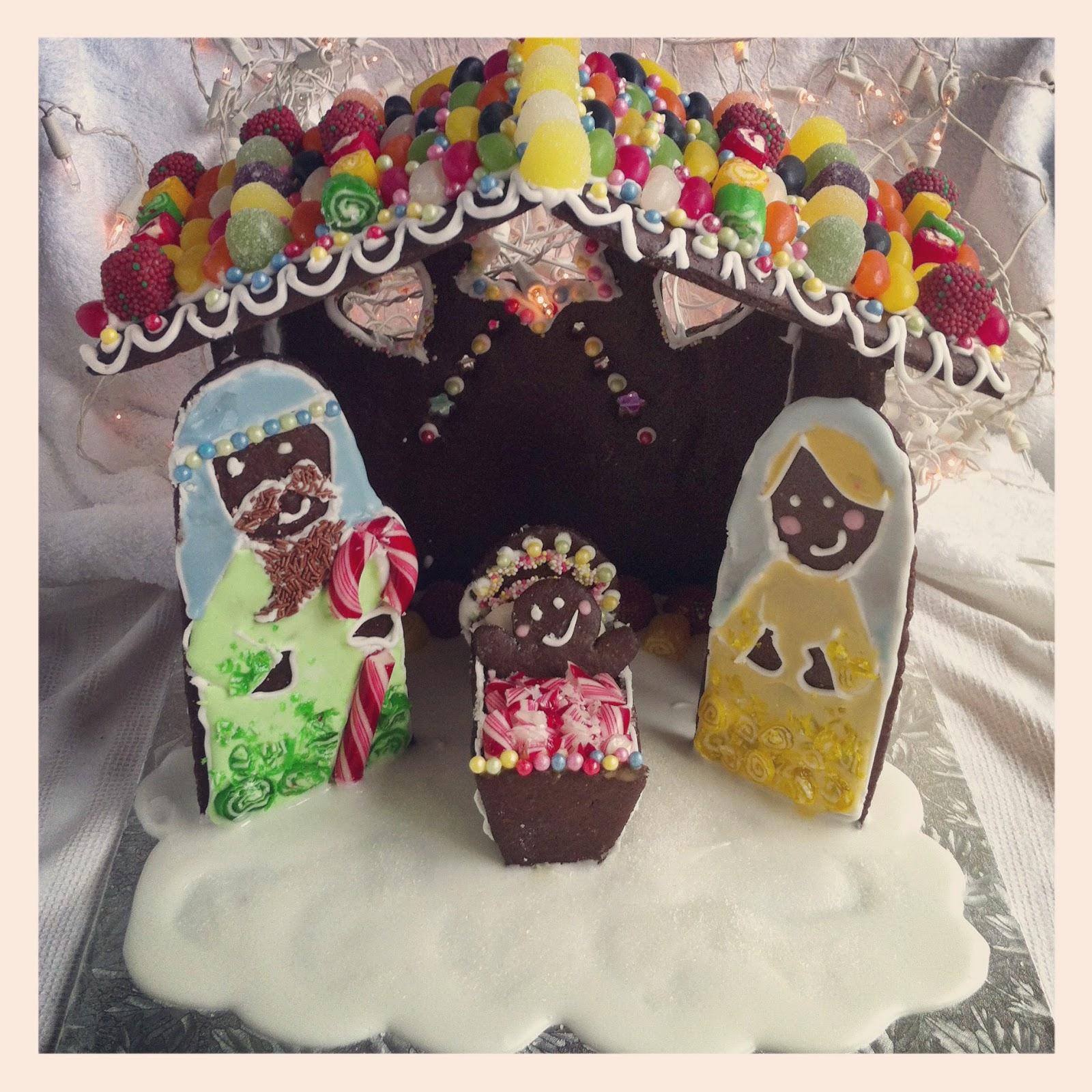gingerbread nativity scene recipe template lilly higgins