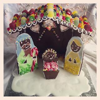 gingerbread nativity scene recipe & template