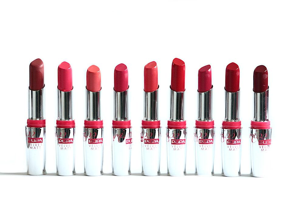 miss pupa velvet matt rouge à lèvres pupa avis test swatches