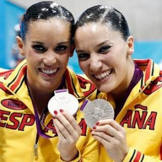 medalla de plata en parejas Ona Carbonell y Andrea Fuentes, España Juegos Olimpicos de Londres 2012